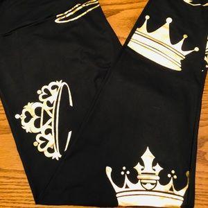 Lularoe gold crown tiara leggings